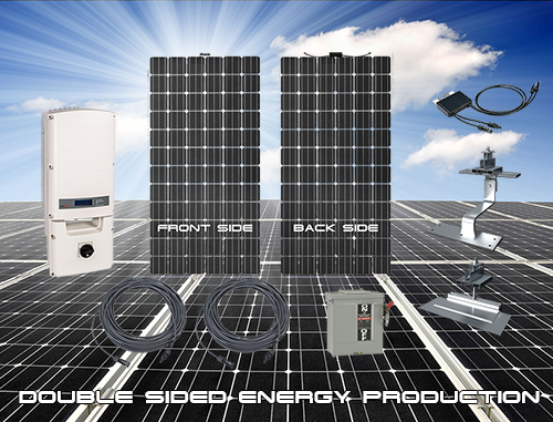 Bifacial solar high efficiency systems.
